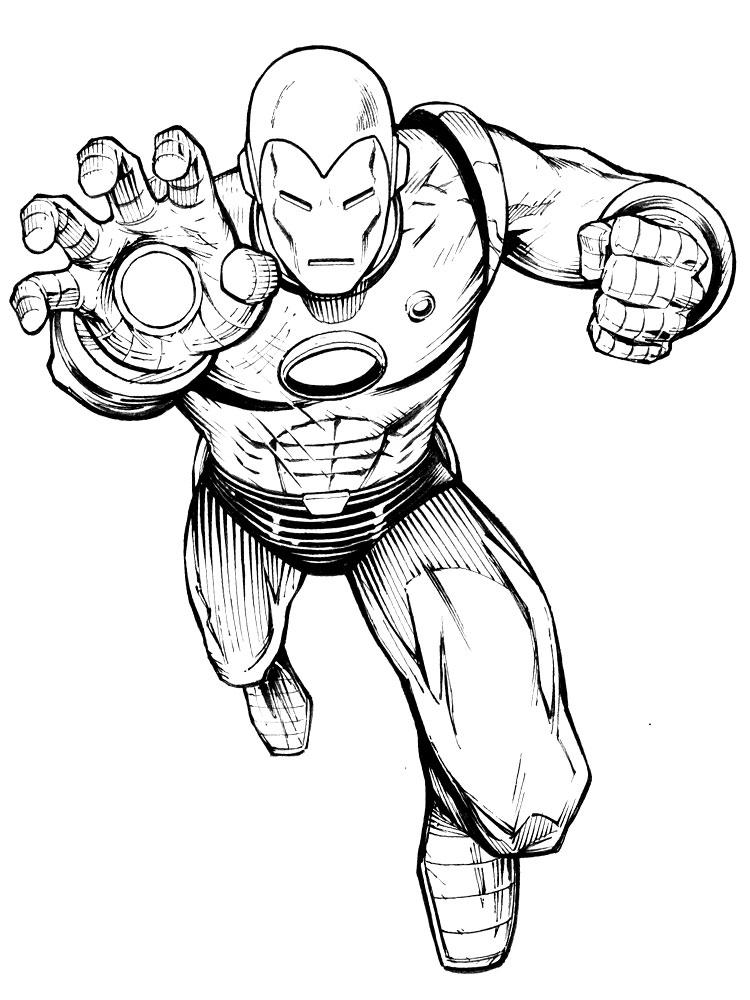 Imprimir dibujos para colorear – Iron Man, para niños y niñas