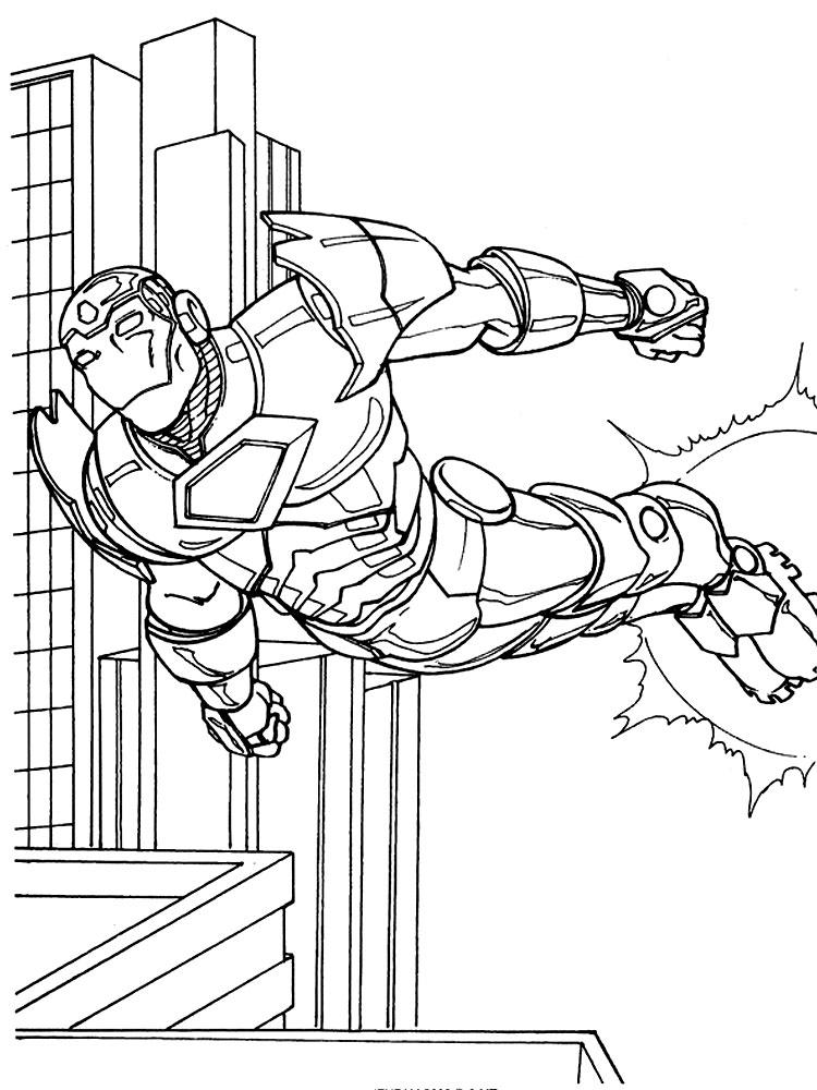 Dibujos Para Colorear Iron Man Imprimir Gratis