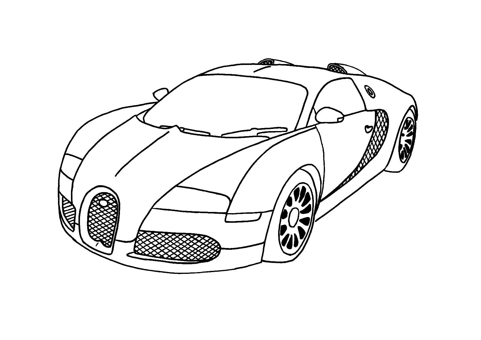 Imprimir gratis dibujos para colorear – automovil