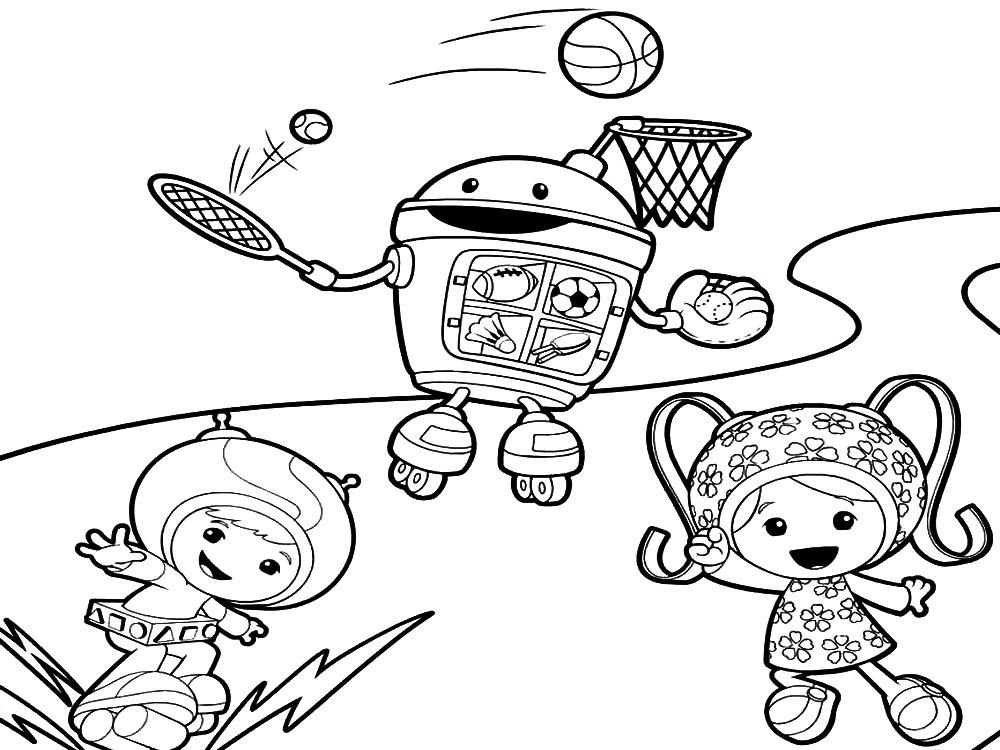 Descargamos dibujos para colorear – equipo Umizoomi.