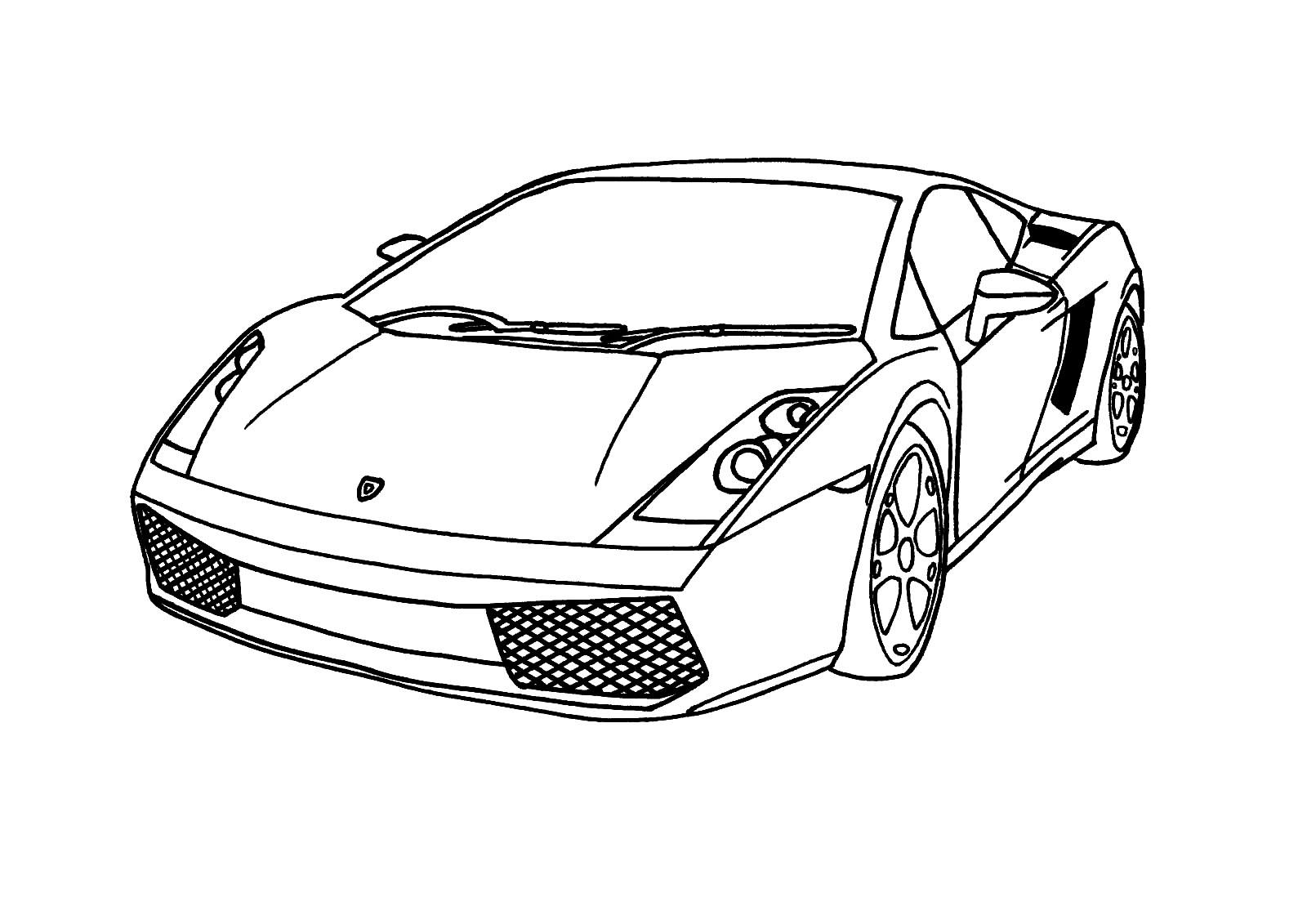 Descargue e imprima gratis dibujos para colorear – automovil