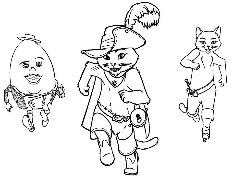 Imprimir imágenes dibujos para colorear – El gato con botas, para ...