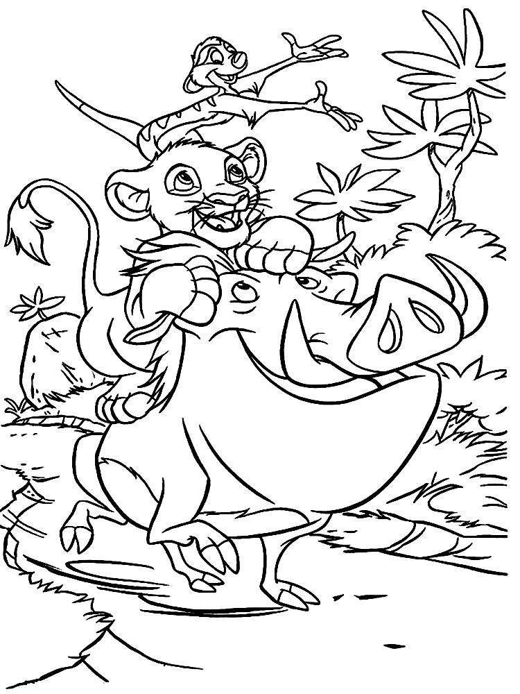 Imprimir dibujos para colorear – El rey leon, para niños y niñas