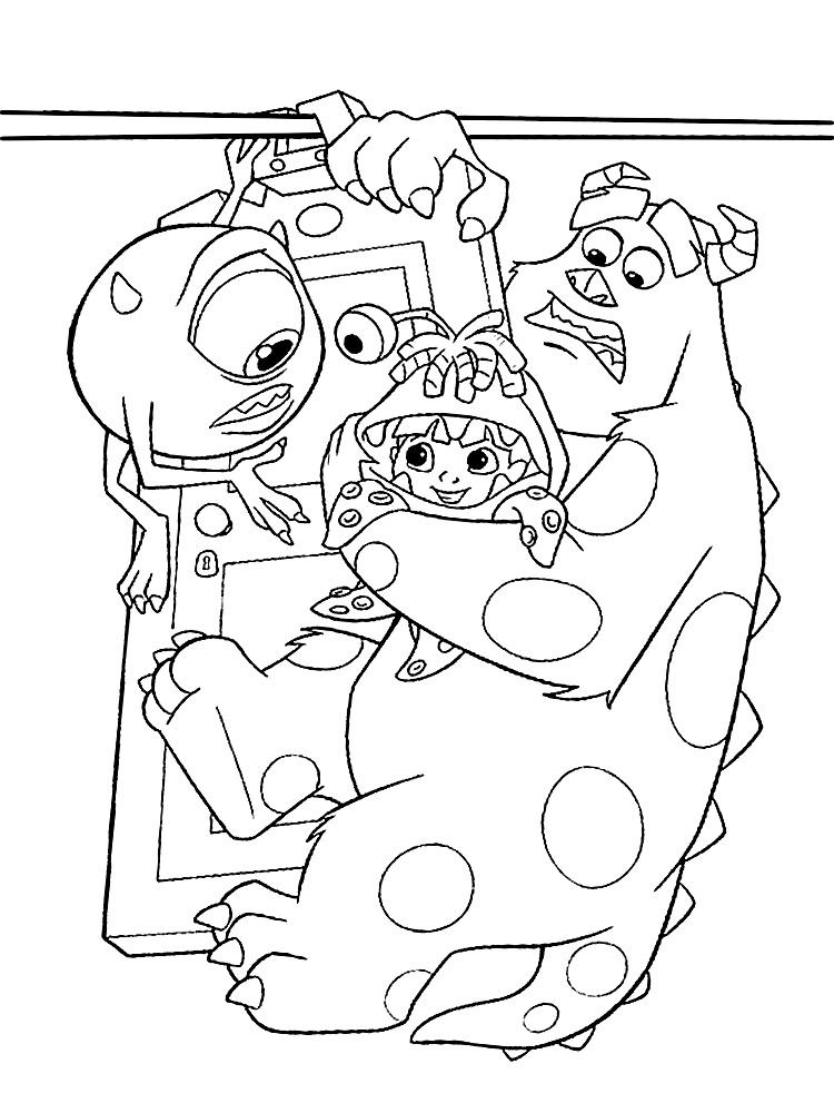 Descargar gratis dibujos para colorear – monsters Inc.