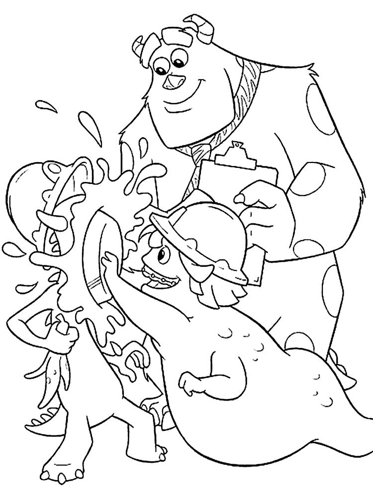 Útiles dibujos para colorear – monsters Inc, para chiquitines creativos