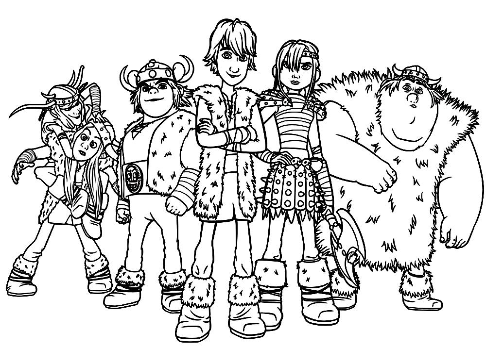 Dibujos para colorear – como entrenar a tu dragon, para niños