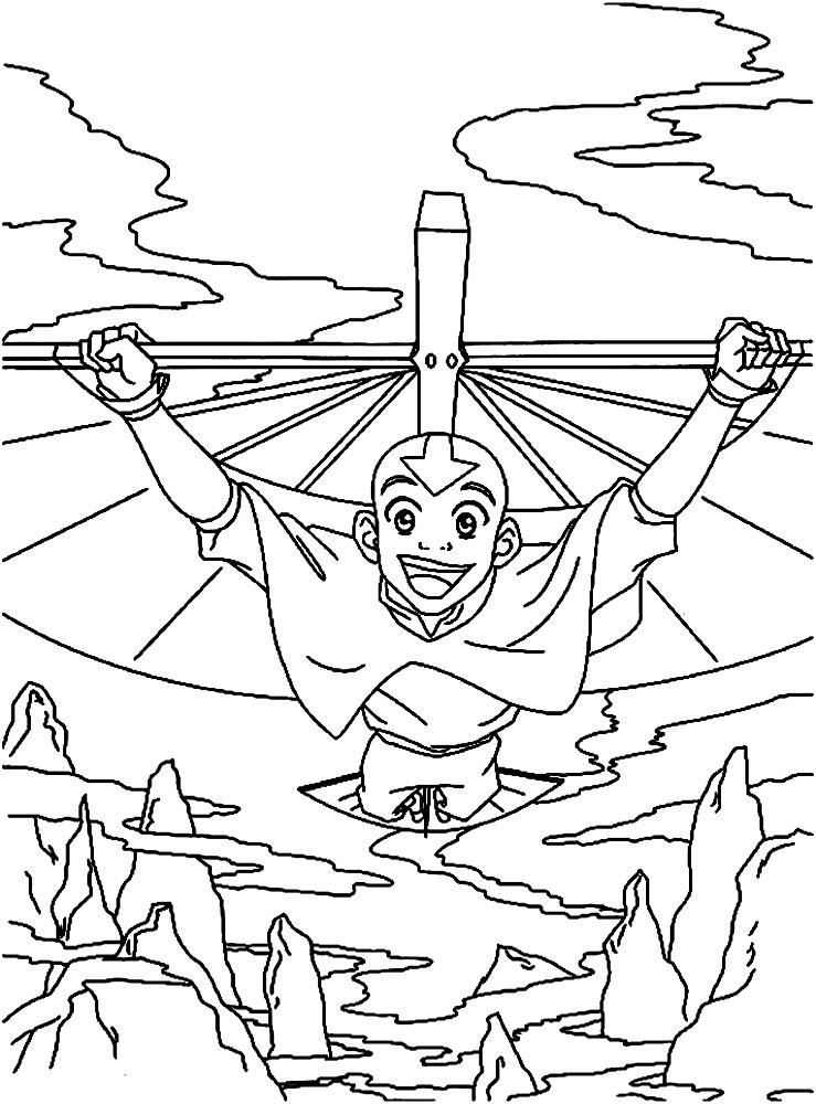 Contemporáneo Avatar El último Maestro Del Aire Para Colorear ...