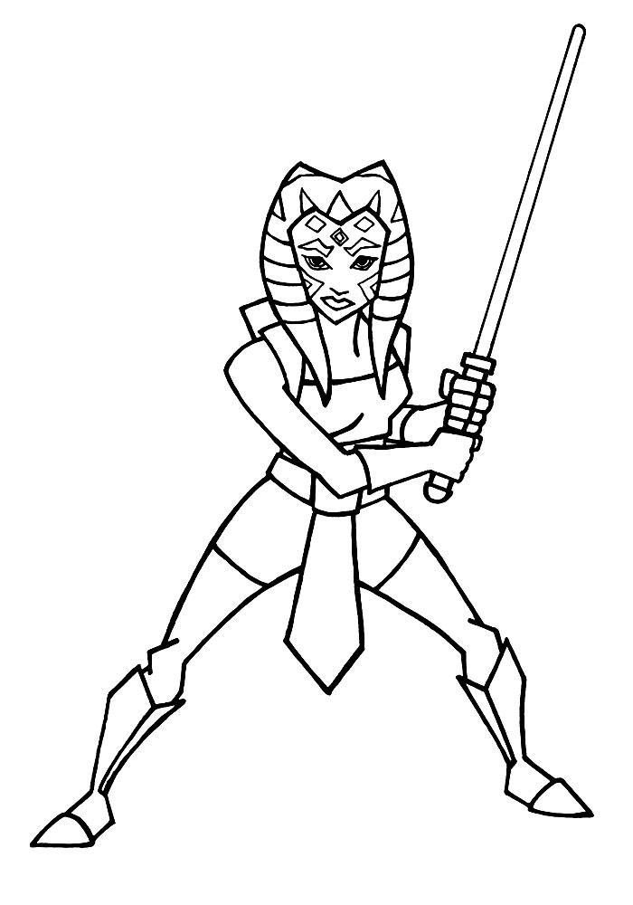 Descargar dibujos para colorear - Star Wars.