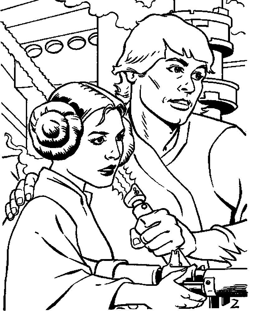 Dibujos infantiles para colorear – Star Wars, para desarrollar ...