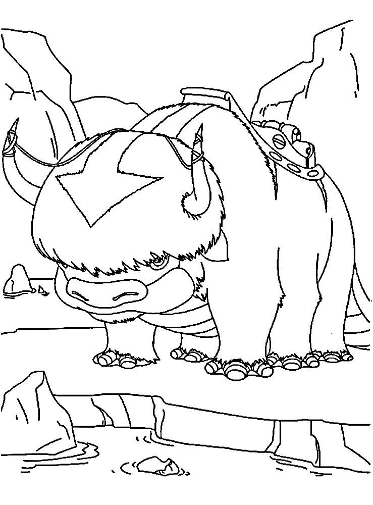Avatar La Leyenda De Aang Dibujos Animados Infantiles Para Colorear