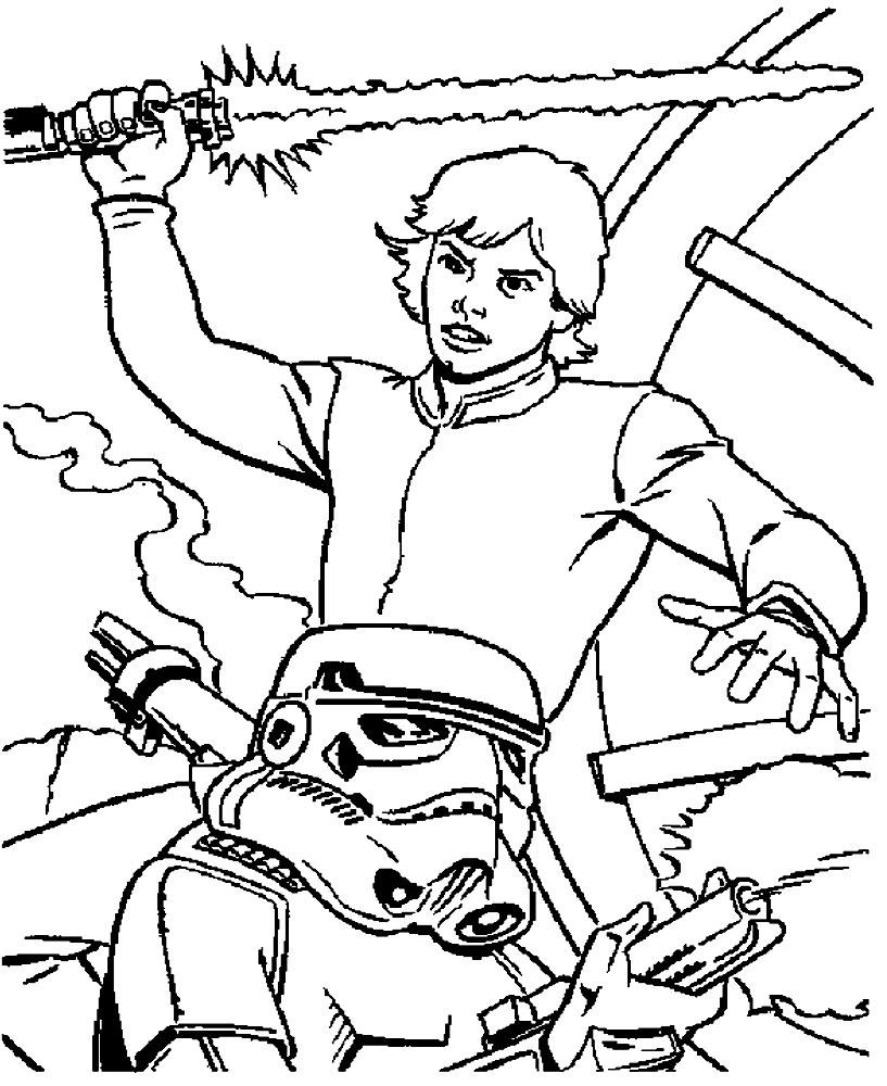 Dibujos para colorear – Star Wars, para un desarrollo infantil, en ...