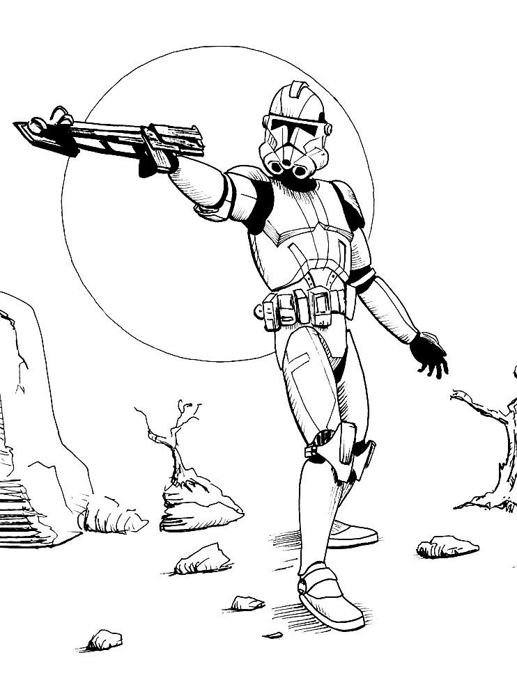 Картинки звёздные войны раскраски