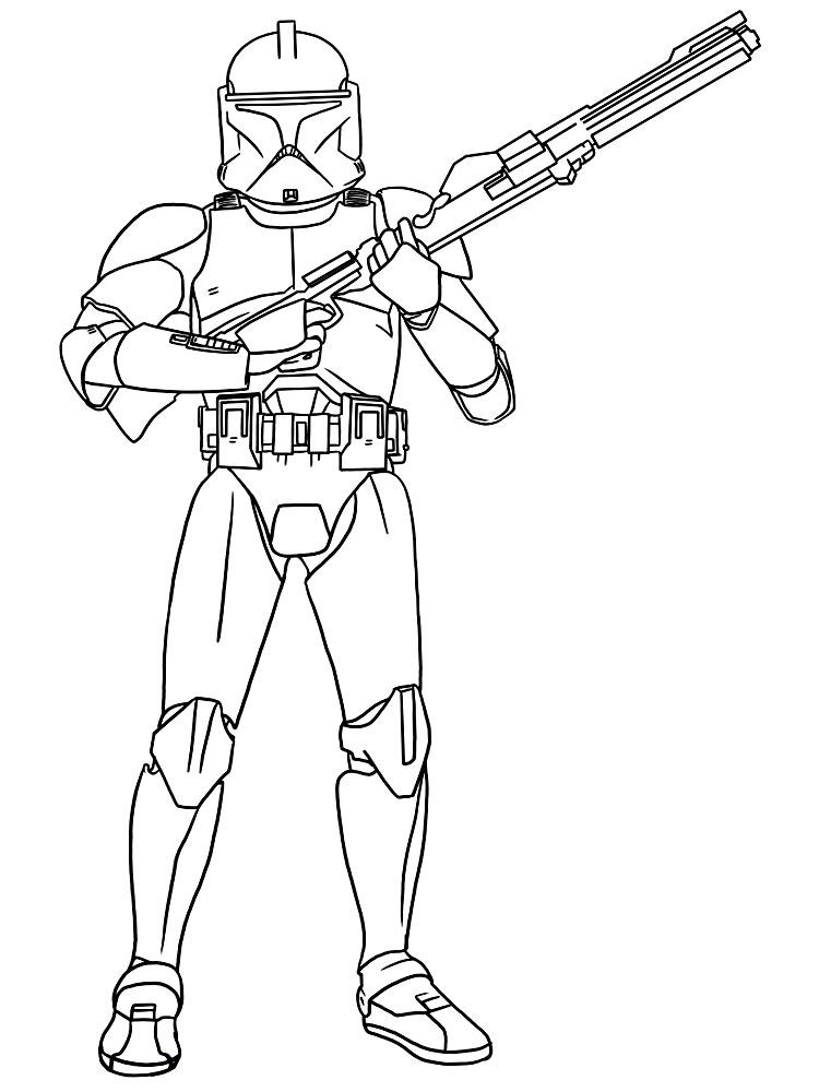 Gratuitos dibujos para colorear – Star Wars, descargar e imprimir