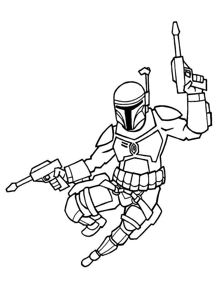 Dibujos para colorear - Star Wars.