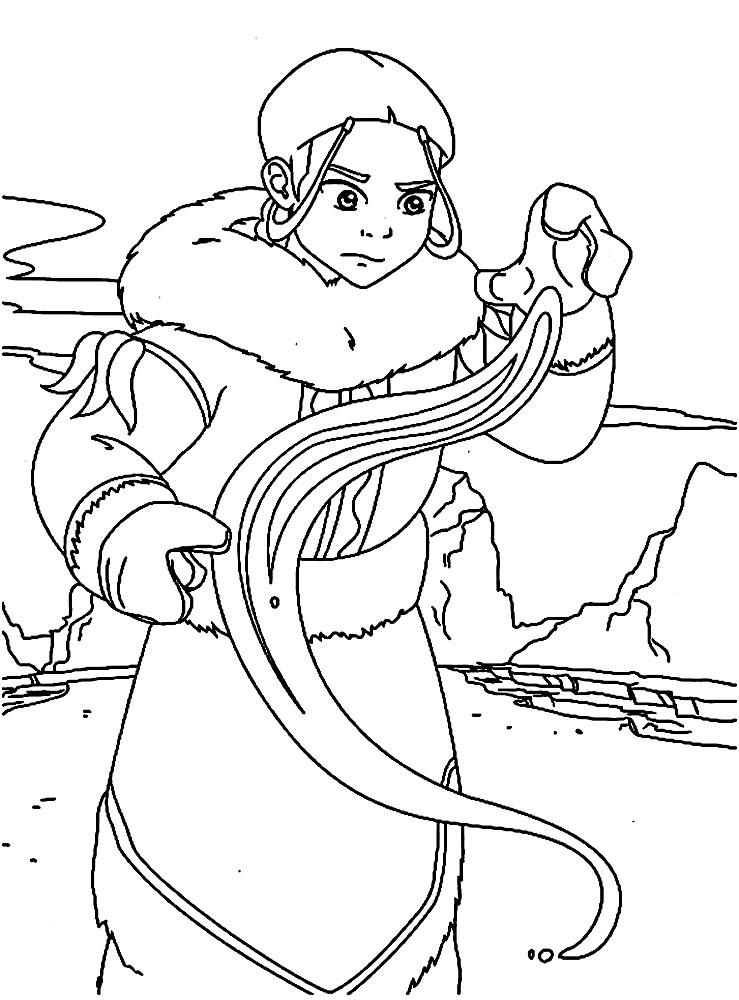 Útiles dibujos para colorear – Avatar: la leyenda de Aang, para ...