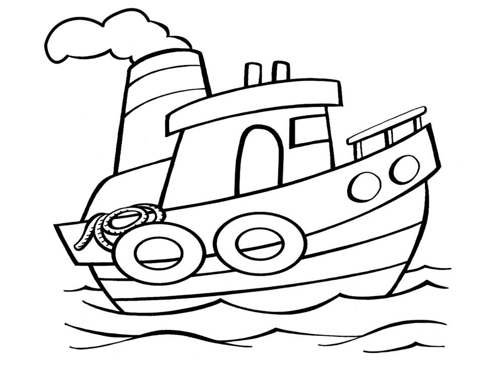 Dibujos para colorear – buque, imprimir gratis
