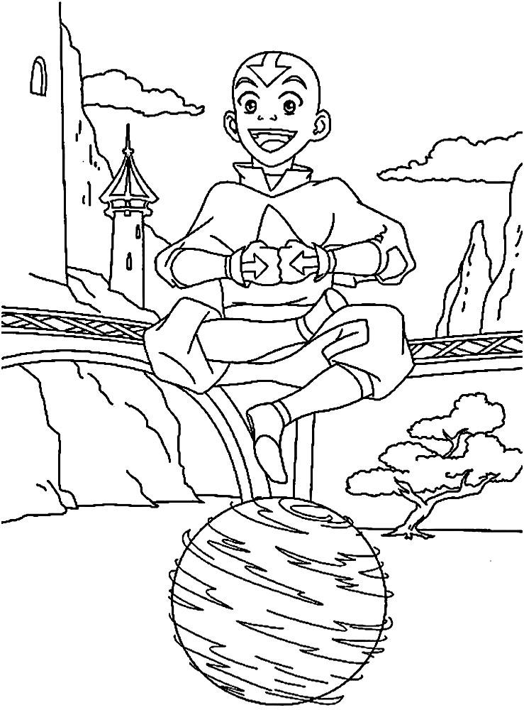 Hermosa Avatar Aang Para Colorear Imágenes - Dibujos Para Colorear ...