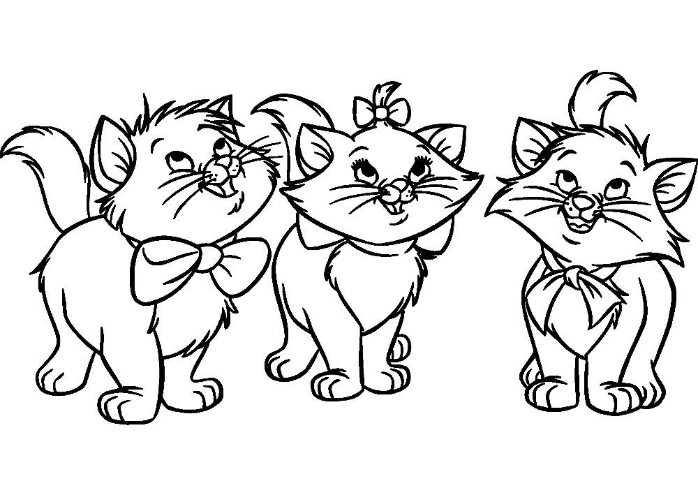 Dibujos infantiles para colorear – Gato, para desarrollar ...