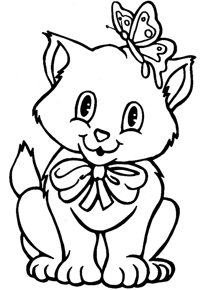 Dibujos Para Colorear Gato Para Niños