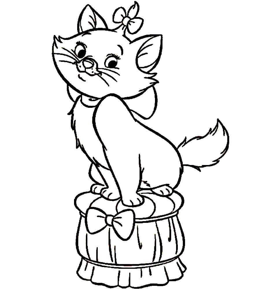 gato – descargar gratis dibujos para colorear.