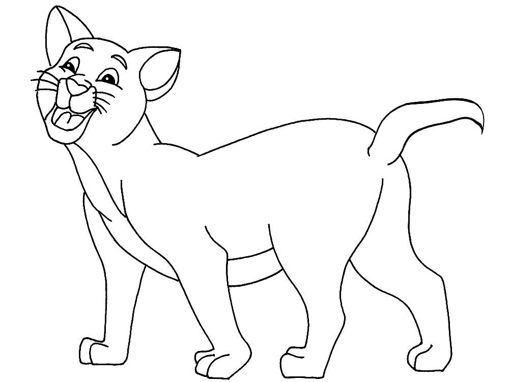 Imprimir imágenes dibujos para colorear – Gato, para niños y niñas