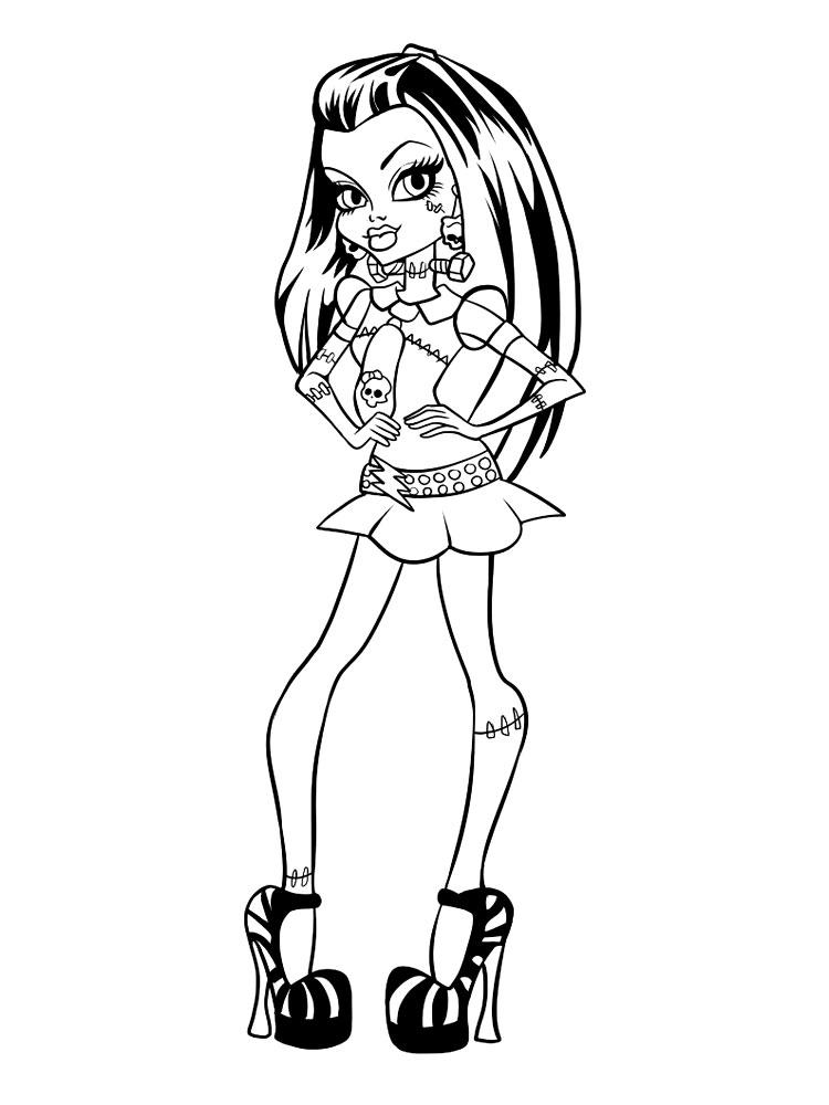 Gratuitos Dibujos Para Colorear Monster High Descargar E