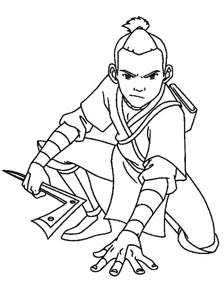 Descargar dibujos para colorear - Avatar: la leyenda de Aang.
