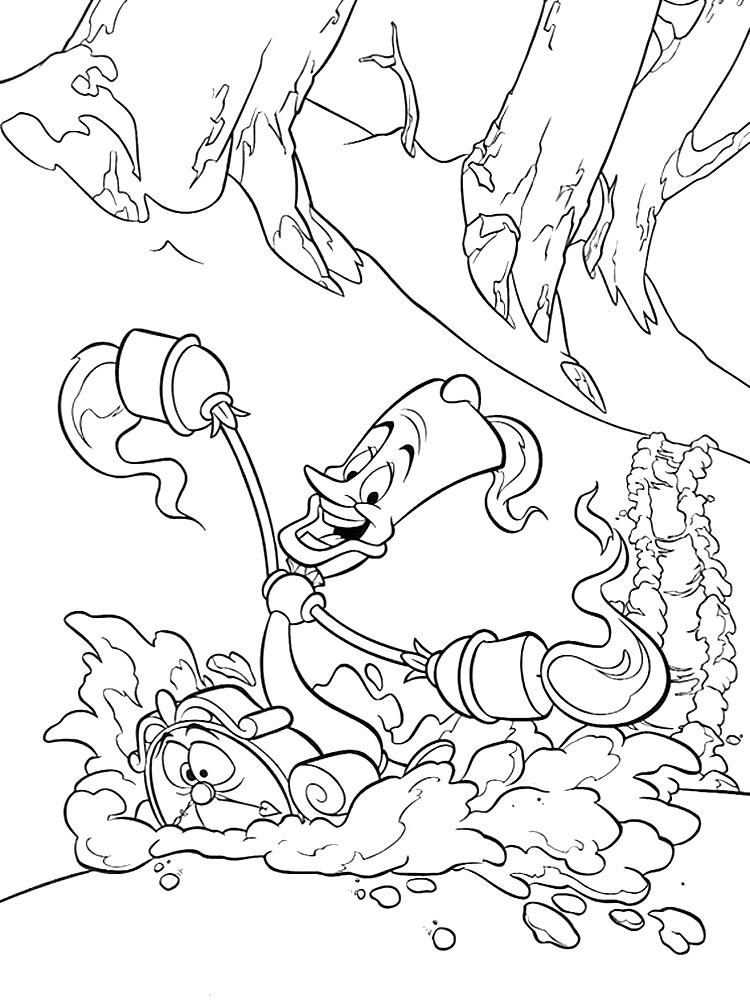 Útiles dibujos para colorear – La Bella y la Bestia, para ...
