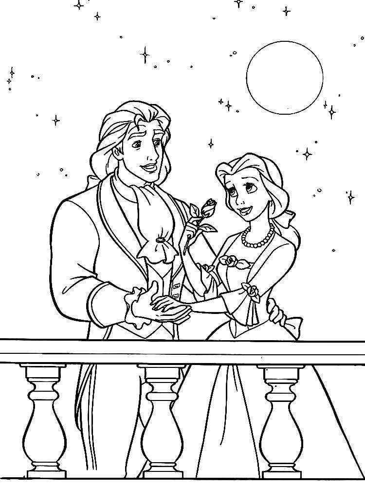 La Bella y la Bestia – dibujos para colorear e imágenes.