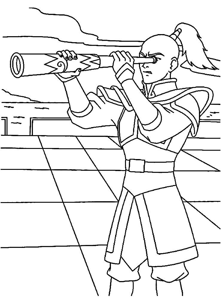 Dibujos para colorear – Avatar: la leyenda de Aang, para un ...