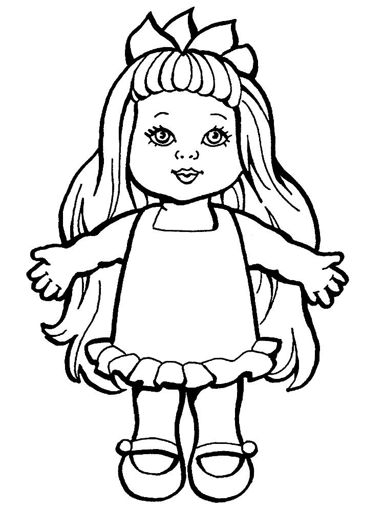 Imprimir dibujos para colorear – muneca, para niños y niñas