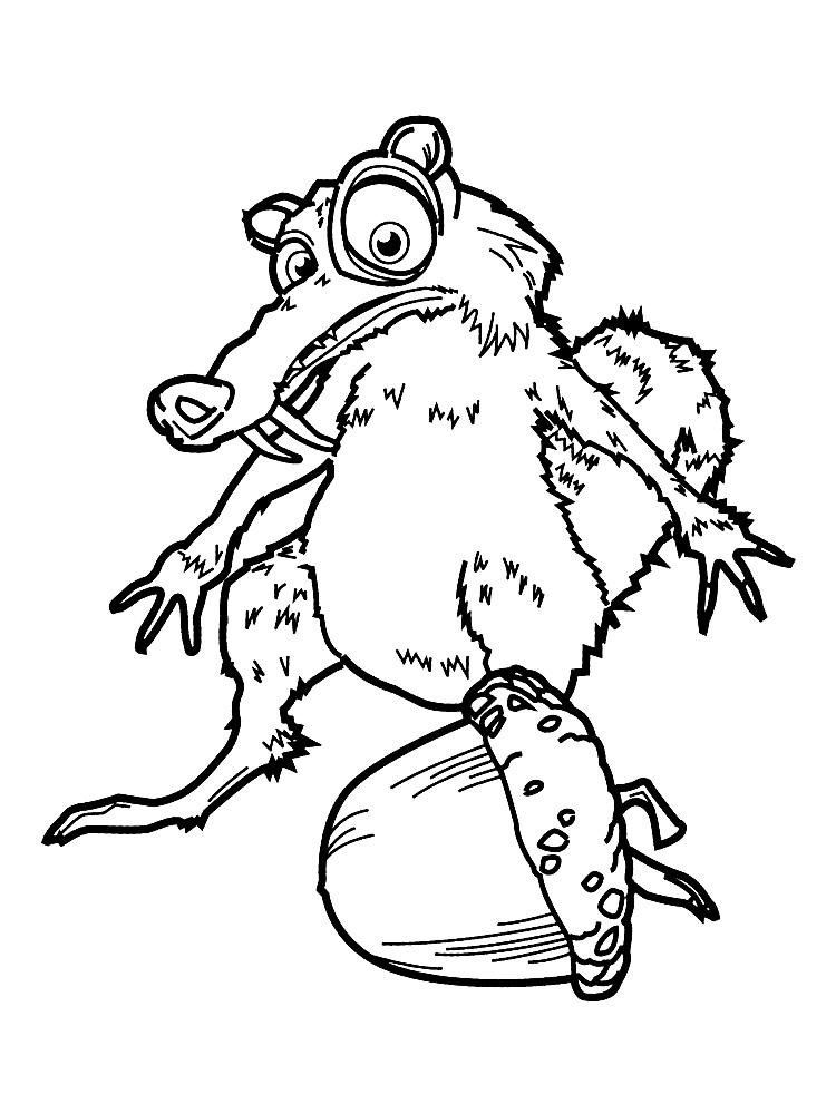 Perfecto Ice Age Scrat Para Colorear Friso - Dibujos Para Colorear ...