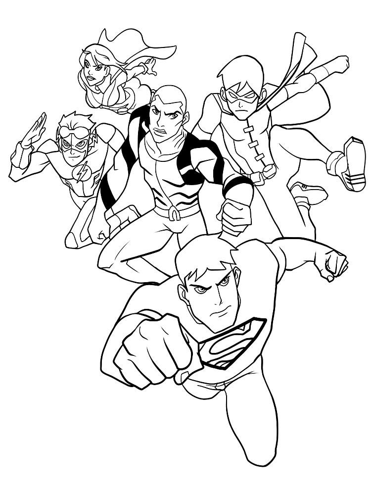 Dibujos Para Colorear Liga De La Justicia Para Un