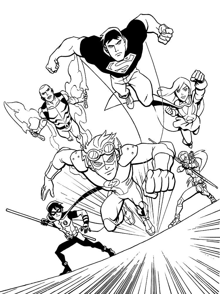 Imprimir gratis dibujos para colorear – Liga de la Justicia