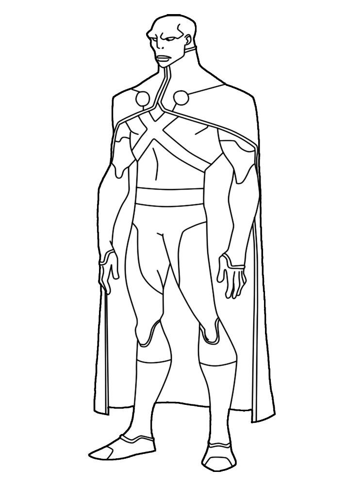 Dibujos Para Colorear Liga De La Justicia