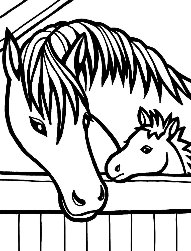 Dibujos para colorear - caballo, para desarrollar la ...