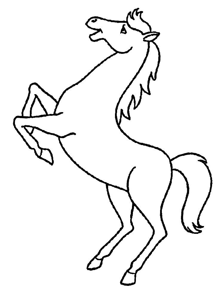 Imprimir gratis dibujos para colorear – caballo