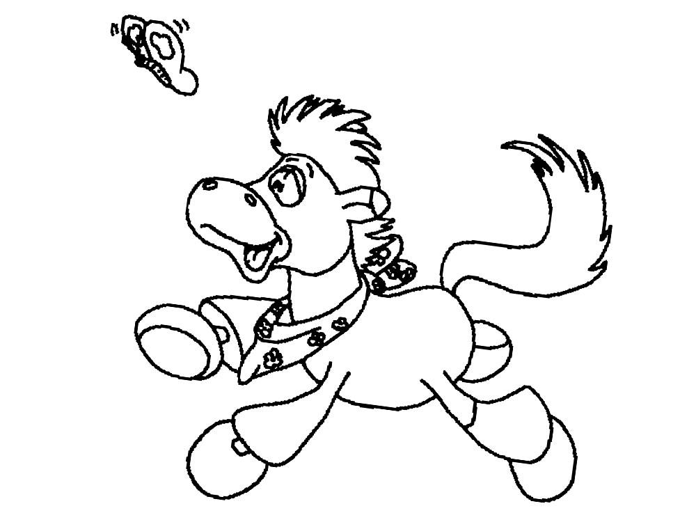 Dibujos para colorear – caballo, para niños