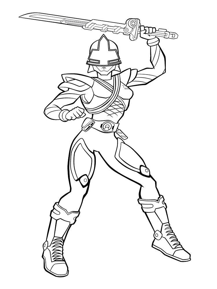 Dibujos animados para colorear  Power Rangers para nios pequeos