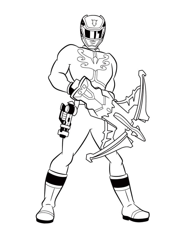 Gratuitos dibujos para colorear – Power Rangers, descargar e imprimir