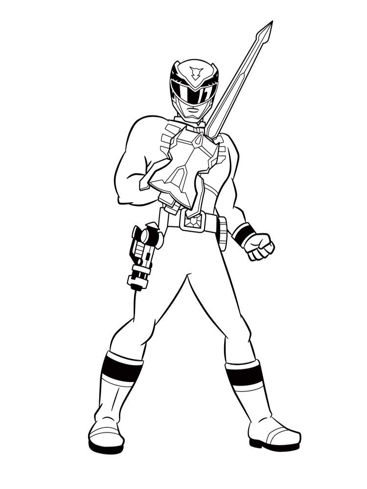 Imprimir dibujos para colorear – Power Rangers, para niños y niñas