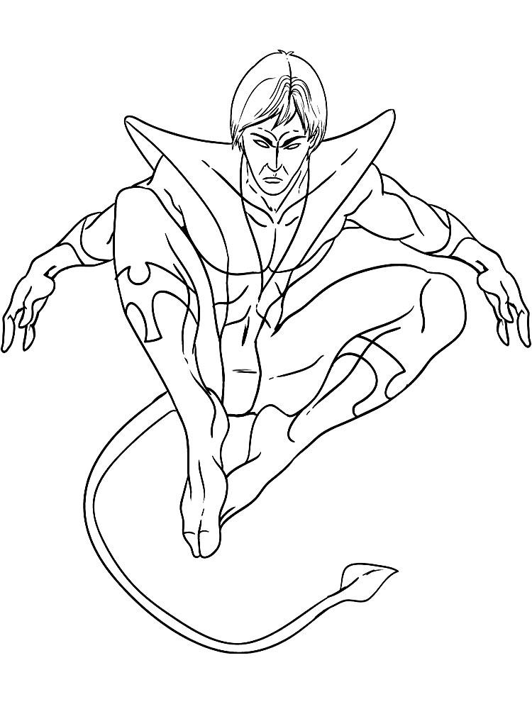 Gratuitos Dibujos Para Colorear X Men Descargar E Imprimir