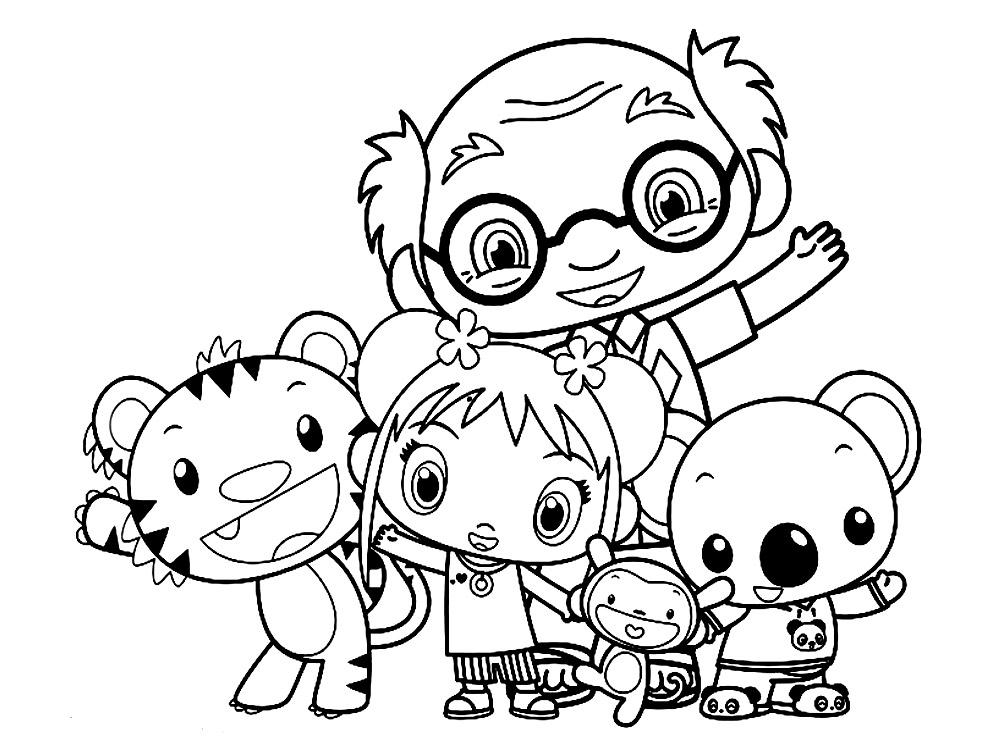 Imprimir imágenes dibujos para colorear – Ni Hao Kai-Lan, para niños ...