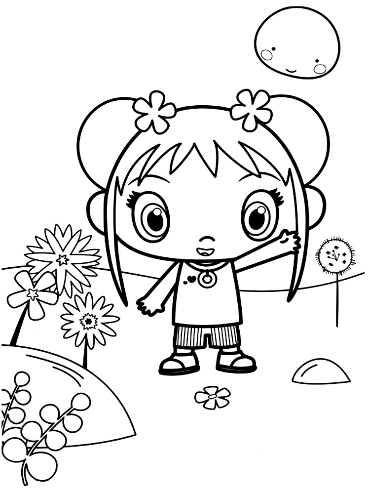 Descargar gratis dibujos para colorear – Ni Hao Kai-Lan.