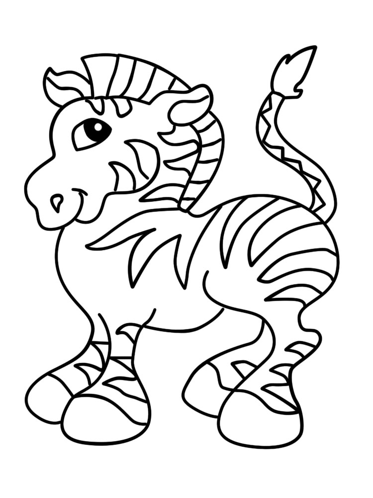 Dibujos para colorear – animales africanos, para desarrollar la ...
