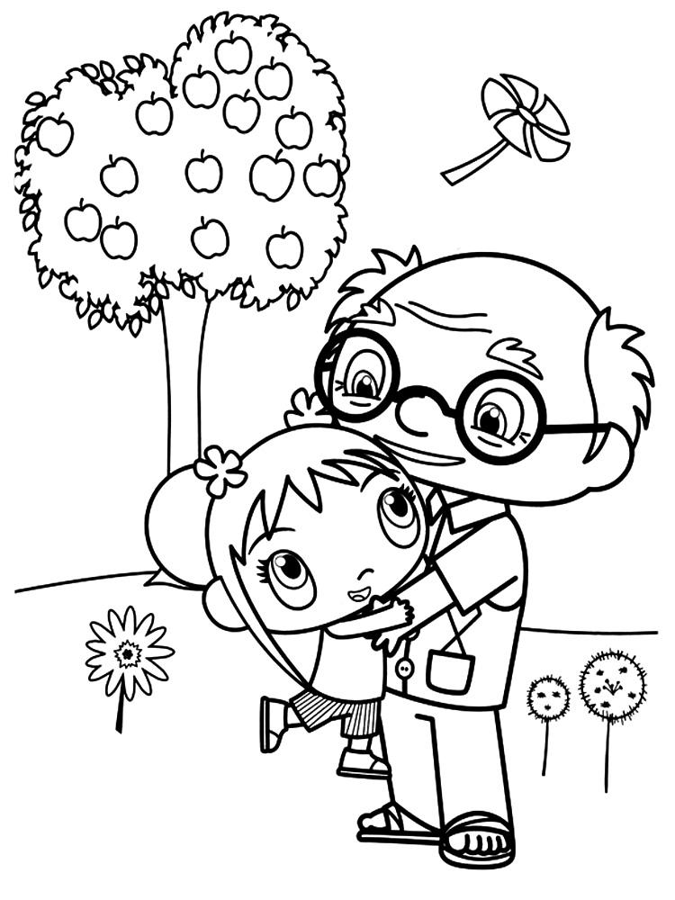 Algo útil para niñas y niños – dibujos para colorear – Ni Hao Kai-Lan