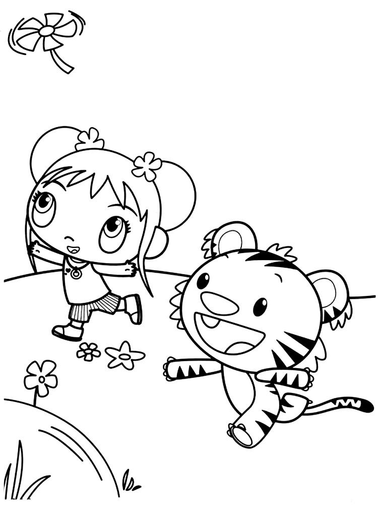 Dibujos para colorear – Ni Hao Kai-Lan, imprimir gratis