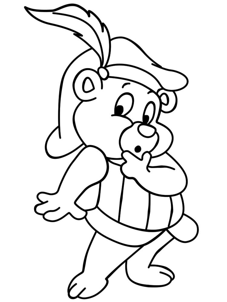 Dibujos para colorear – osos Gummi, para desarrollar la generación ...