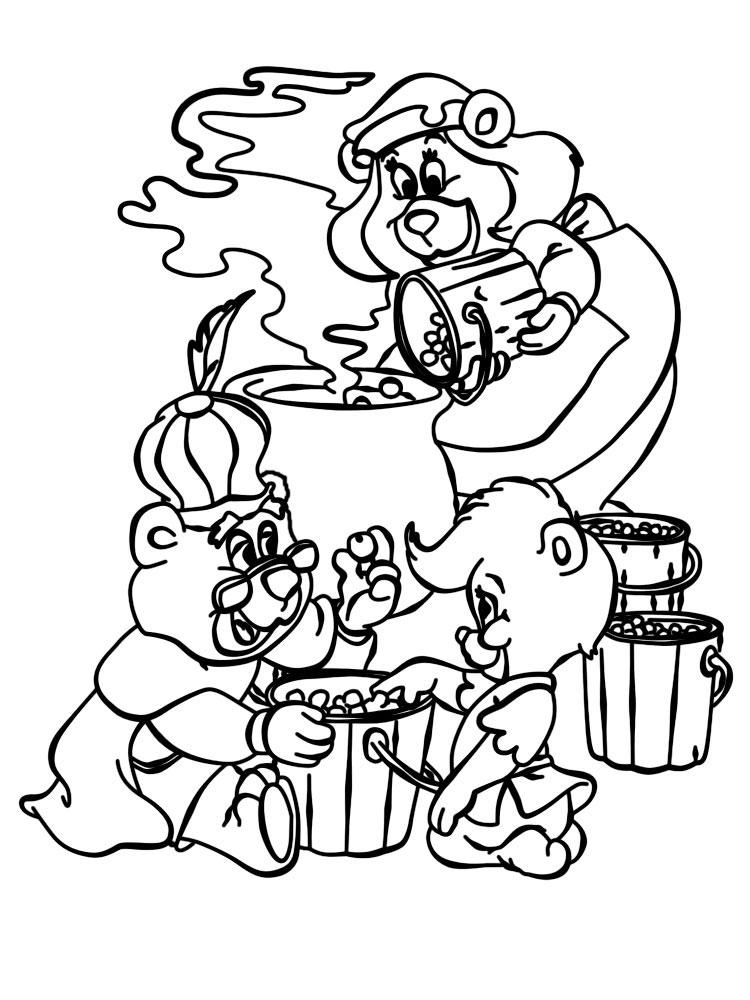 Dibujos para colorear – osos Gummi, para niñas y niños