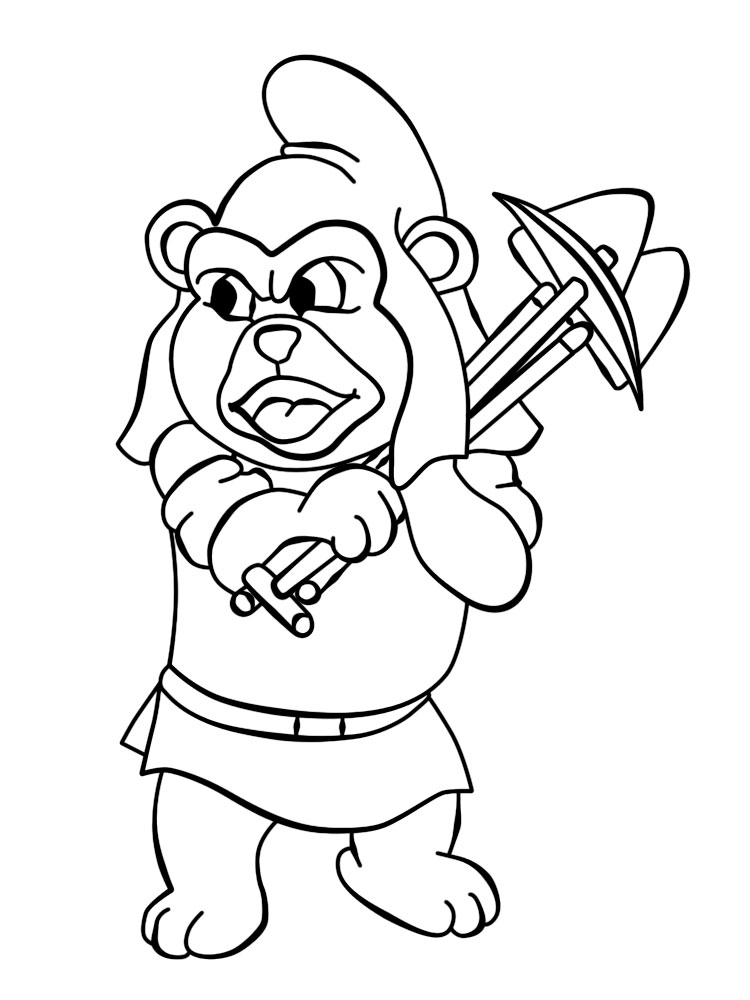 dibujos para colorear  osos gummi